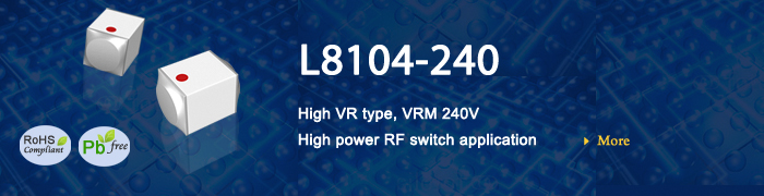 PIN Diode L8104-240 For High VR type, VRM 240V High power RF switch application